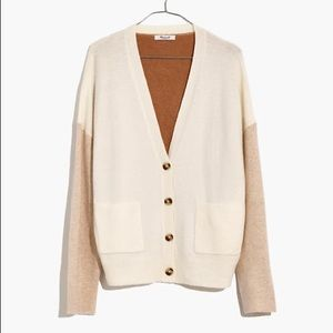 Madewell Ex-BF cardigan sweater in color block L